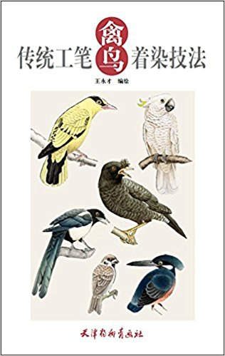 Chinese goingbi book drawing Birds - learn how to coloring chinese goingbi book drawing birds learn how to coloring