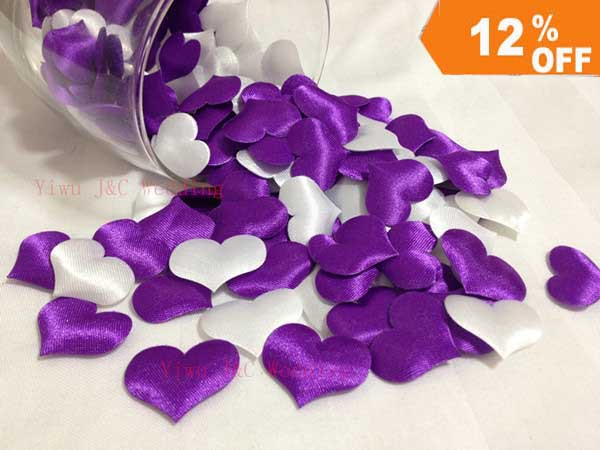 aliexpresscom buy free shipping 1000pcs 500pcs white 500pcs purplewedding table decoration heartdiy party decorationfabric heart jco h03 from - Aliexpress Decoration Mariage