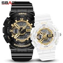 Модные часы для влюбленных роскошные Цифровые мужские женские спортивные часы водонепроницаемые часы парные с двойным дисплеем для мужчин и женщин