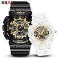 Модные часы для влюбленных роскошные Цифровые мужские женские спортивные часы водонепроницаемые часы парные с двойным дисплеем для мужчин...