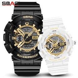 Amantes da moda relógios de luxo digital relógios de esporte feminino masculino à prova ddual água dupla exibição relógio de casal para homem e mulher