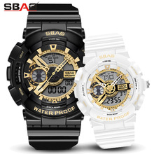 Fashion Lovers Watches Luxury Digital Mens Womens Sport  waterproof Dual Display Watch Couple for Men and Women
