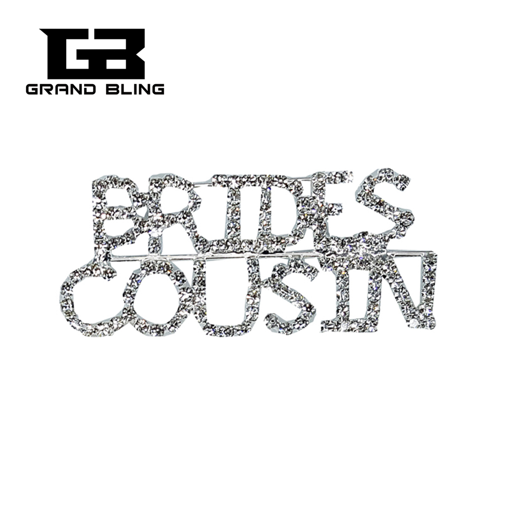 Blingbling Wedding Theme Gift Brides Cousin Brooch Pin Jewelry For