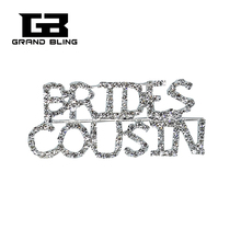 BlingBling Wedding Theme Gift BRIDES COUSIN Brooch Pin Jewelry for Brides Relative