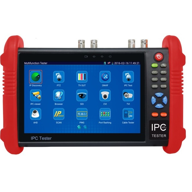 IPC9800 Series 7 Inch CCTV Tester Monitor IP Analog Camera Tester WIFI Onvif PTZ Control POE