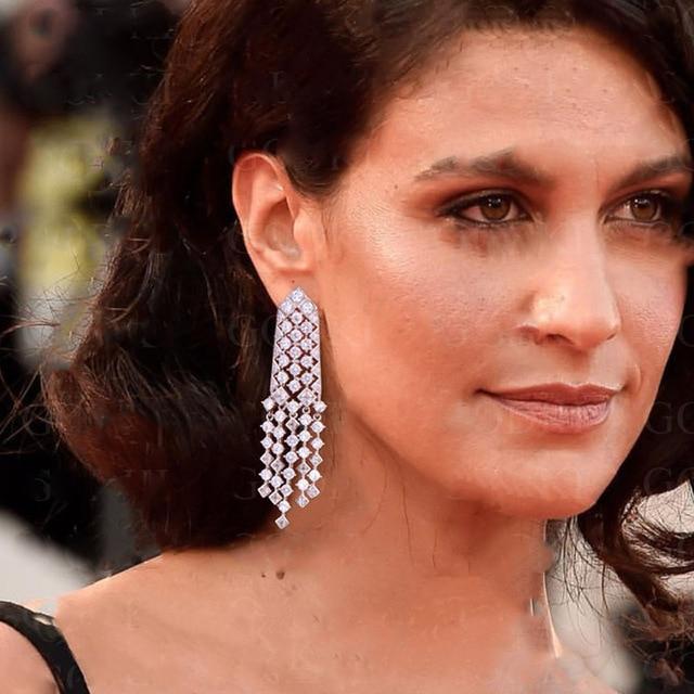 Be8 Brand AAA+ Cubic Zirconia Fashion Tassel Dangle Earrings Unique Jewelry Beautiful Long Dangle Earring For Girl Gifts E-298