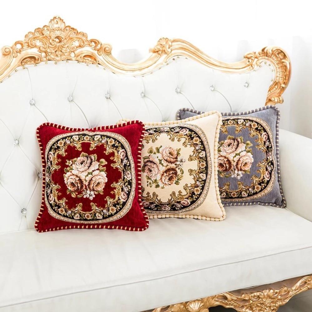 Elegant Sofa Pillows: 45x45cm Decorative Cushion Covers Throw Pillow Case