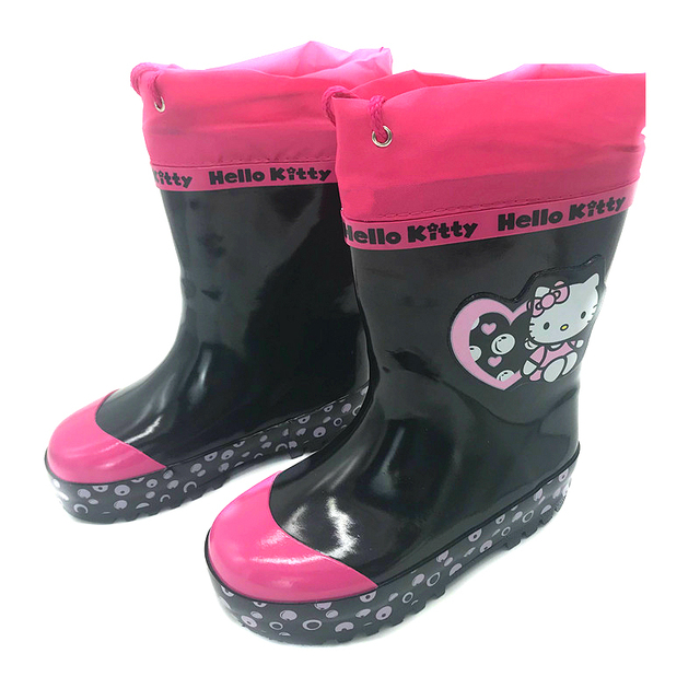 12c09a685 Baby Girls Shoes Hello Kitty Boots PU Leather Waterproof Martin Boots Hello  Kitty Shoes Girls Rubber Rain Boots Fashion Sneakers