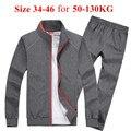 (Tamanho 34-46 para 50-130 KG) inverno sportswear homens definir Ocasional Algodão dos homens terno Homens Hoodies Moletons Homens marca Treino SportSuit