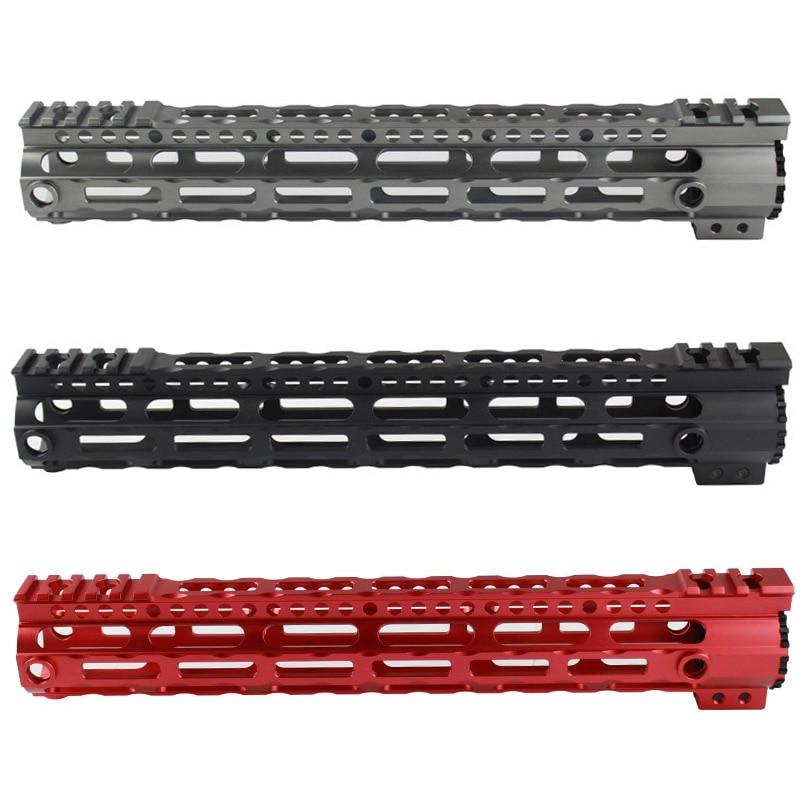 CNC Ultra leve Tactical 7.25 ''10.2'' 12.6 ''Ferroviário Handguard Picatinny Rail para Airsoft AEG