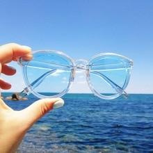 2017 New Classic Women's Sunglasses Fashion Trendy Plastic Arms Candy Color Lens Sun Protection Eye Glasses UV400 Oculos de sol
