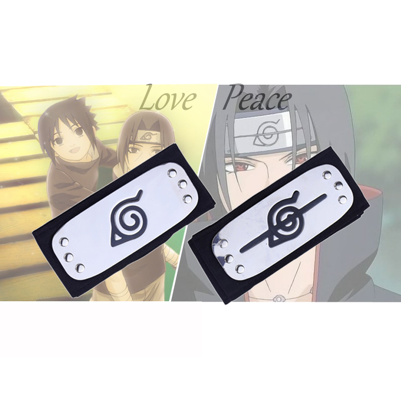 Naruto Headband Cosplay Costumes Accessories Toys Props Itachi Akatsuki Anime Headband Kakashi Peace Love