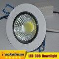 2016  7w 9W 12w LED COB chip downlight Recessed LED Ceiling light Spot Light Lamp White/ warm white led lamp epistar