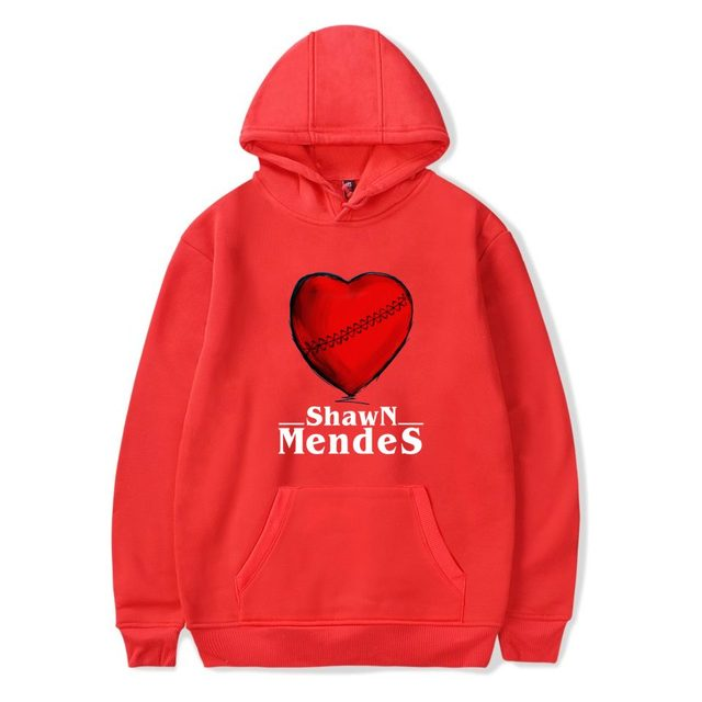 SHAWN MENDES A RED LOVE HEART HOODIE (6 VARIAN)