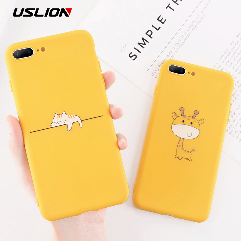Funny Cartoon Giraffe Phone Case For Iphone 7 8 Plus TPU Silicone Back Cover For Iphone X XR XS Max 6 6S Plus Soft Cases