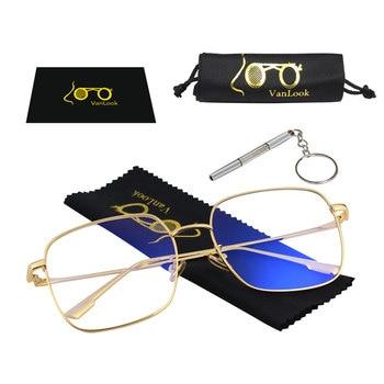 Men's Computer Glasses for Women Transparent Kacamata Anti Radiasi Blue Light Blocking Eyeglasses Blaulicht Blue Ray Protection