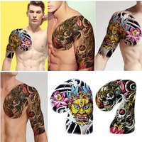 10pcs Lot Fake Tattoo Stickers Colorful Abstract Figure Shoulder Skull Temporary Tattoo Stickers Sexy Hot Body