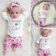 Get more info on the Fashion Newborn Cotton Set Baby Boys Girls Striped Letter Print Tops+Pants+Hat Casual Set O-Neck  High Quality Baby Clothing