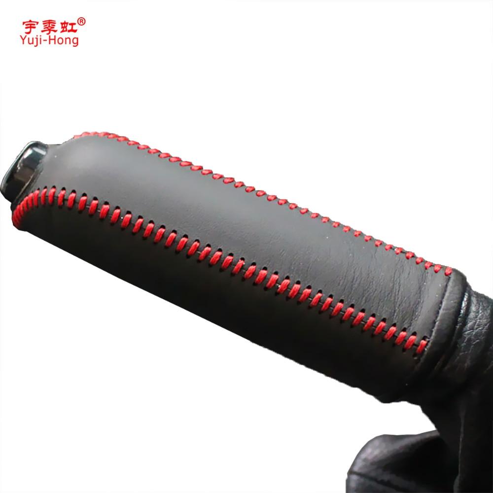 Yuji-Hong Car Handbrake Covers Case For Ford Focus 2009-2013 Auto Handbrake Grips Genuine Leather Cover