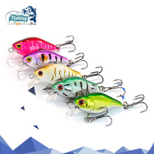 Купить с кэшбэком 1PCS Fishing Lure VIB Floating Lifelike lure 5.5CM 2.7G Pesca Hooks Fish Wobbler Tackle Crankbait Artificial Hard lure Bait