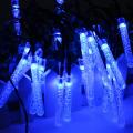20 LED 4.8M 0.6W Multicolor Bubble Icicle Fairy String Light Solar Power Outdoor Garden Christmas Party Decor Lamp