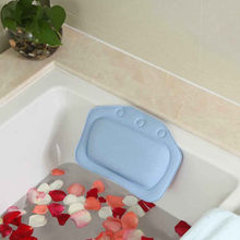 31 x 21cm Comfortable SPA Bath Pillow Bathtub Bathroom Neck Headrest Soft Pad Suction Bathing Neck Pad Anti-slip Pad(China)