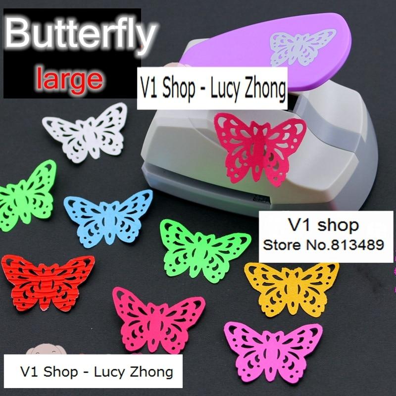 2015 papillon poinçon en forme de scrapbooking furador eva cardage gaufrage machine sacabocados perforadora papel coupe-papier p6