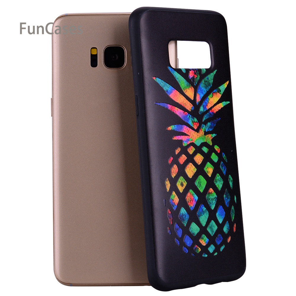 Pineapple Relief Case sFor Estojo Samsung S8 Soft Silicone Phone Case Cell Unicorn Fitted Case For Samsung Galaxy S8 Pone Mobile