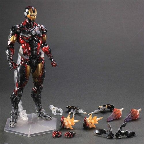 Jogar Arts Kai Herói Homem de Ferro Thor Capitão América Black Widow Vemon Spiderman Brinquedos Anime ação Pvc toy figuras Modelo
