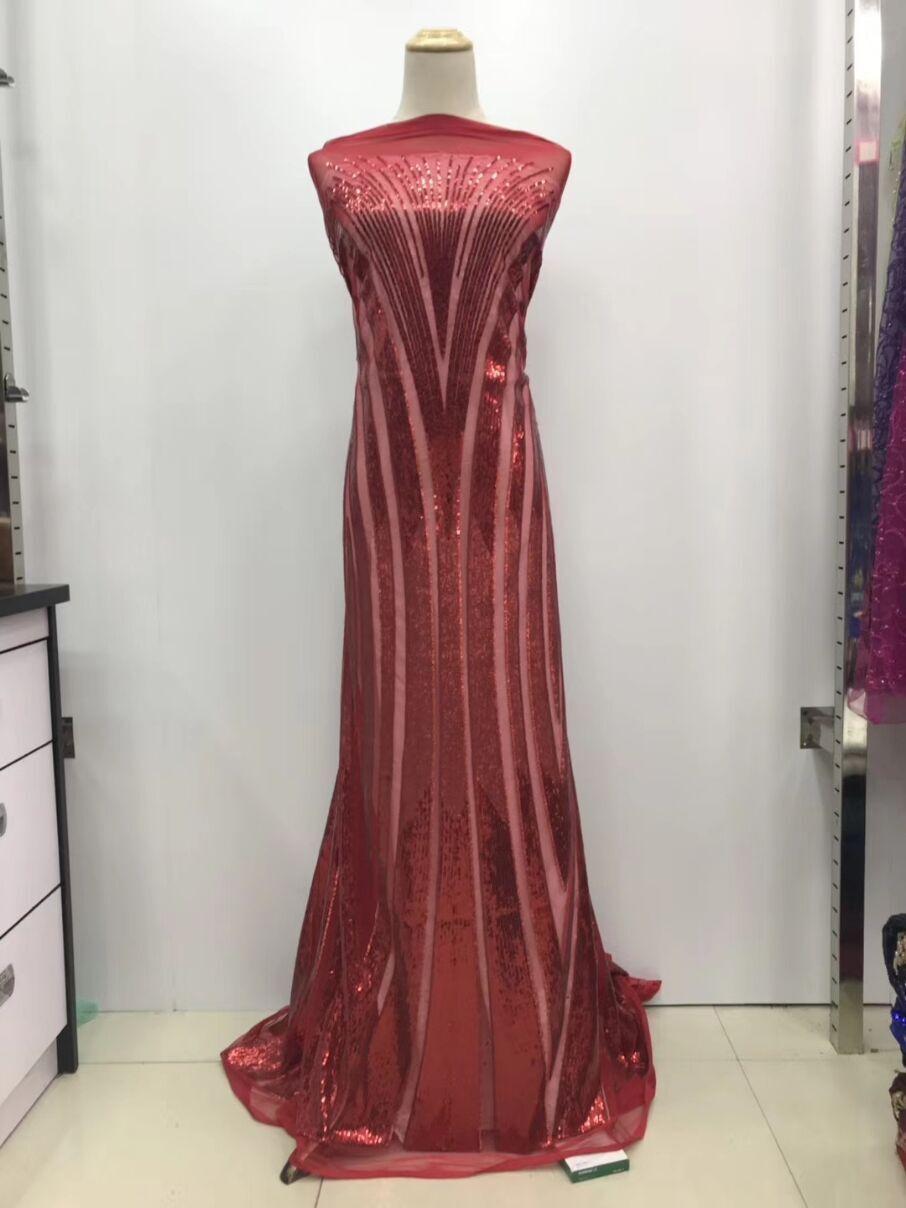 뜨거운 판매 나이지리아 레이스 원단 2018 레드 아프리카 레이스 원단 고품질 스팽글 웨딩 드레스에 대한 프랑스 나이지리아 레이스 원단-에서레이스부터 홈 & 가든 의  그룹 1