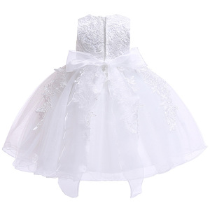 Image 4 - Newborn Baby Girls Christening Dresses Infant Toddler Baptism Gown Children Wedding Party White Frocks Birthday 1 Year Outfit