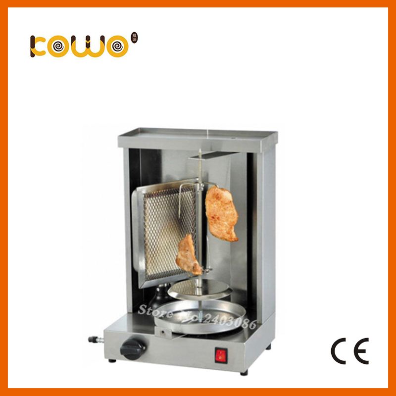 ce stainless steel mini LPG gas doner kebab machine single head kebab grill maker 1 burner meat shawarma machine food processors 1pc hot sale 100%quality guaranteed doner kebab slicer two blades electrical kebab knife kebab shawarma gyros cutter