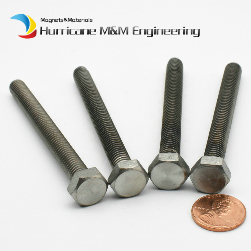<font><b>Titanium</b></font> Hex Bolt M8 <font><b>M10</b></font> M12 M16 M18 M20 10-120mm Grade 2 Hexagon DIN933 Original Ti Color not Polished <font><b>Titanium</b></font> <font><b>Screw</b></font> Fastener image