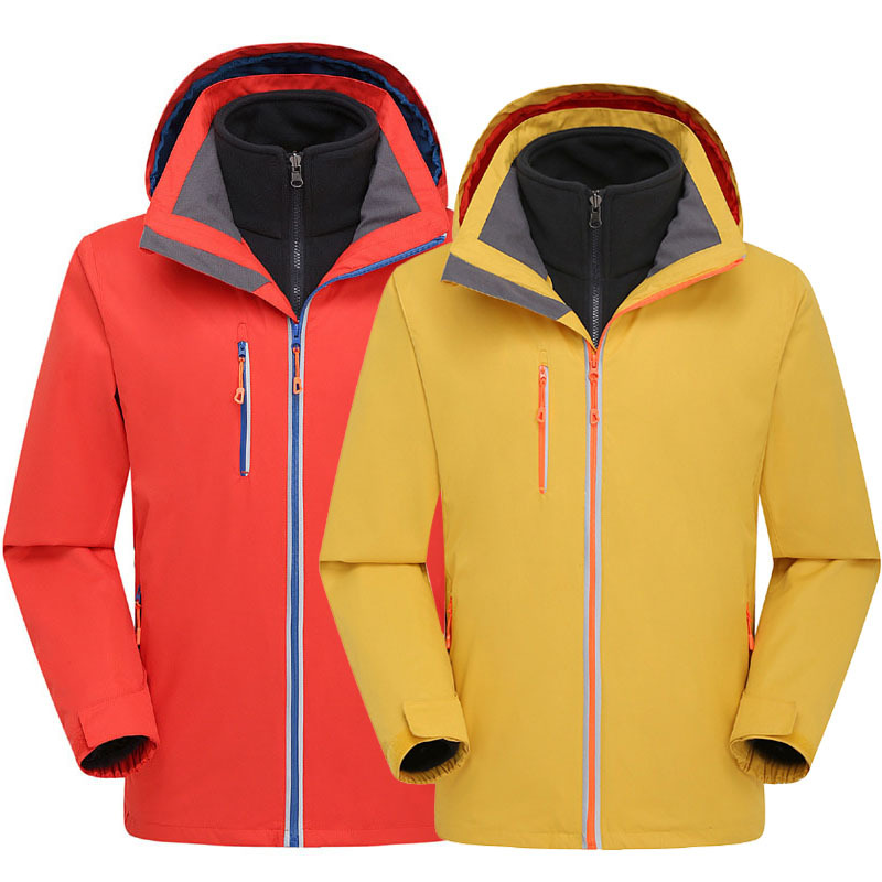 Outdoor Skiing Winter Waterproof Skiing Snowboard 3 in 1 Jacket Softshell Fleece Windbreaker 2-Layer Warm Ski Snow Jacket Coat
