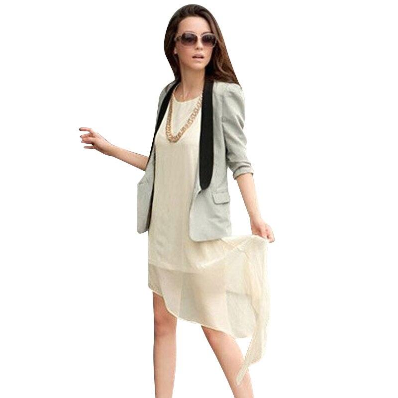 2016 Women Asymmetric Chiffon Vest Dress