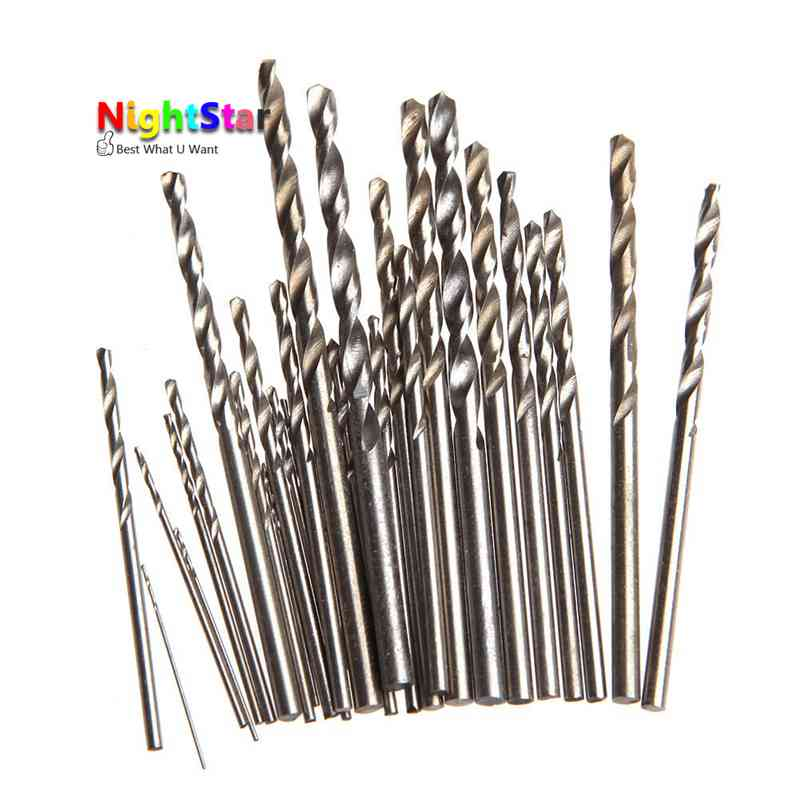 10pcs Micro HSS Twist Drill Bits Straight Shank Auger Bits For Electrical Drill Optional Size/ 2mm 2.5mm 3mm 3.5mm 4mm 10pcs 0 5mm micro hss twist drilling auger bit for electrical drill new page 1