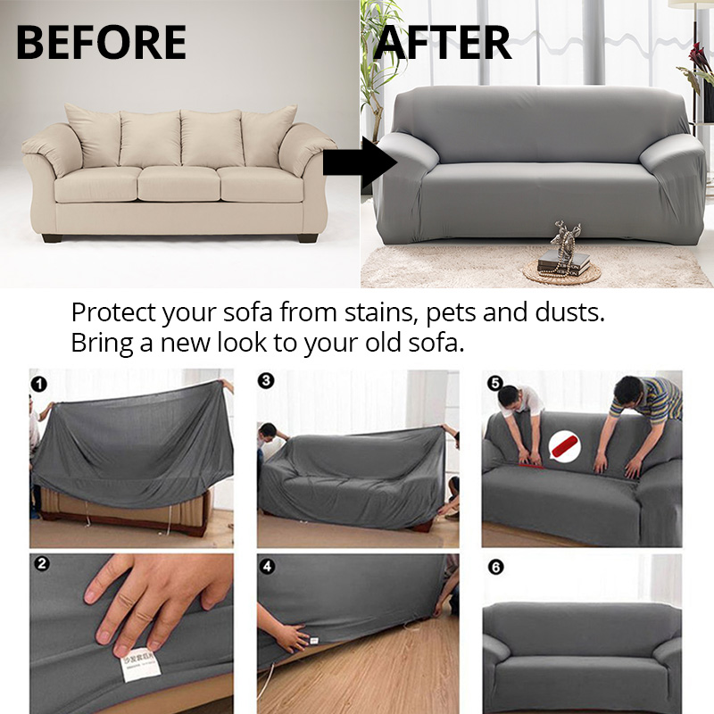 Outstanding Elastic Sofa Cover For Living Room Universal Case For Sofa Home Sectional Couch Covers Spandex Camellatalisay Diy Chair Ideas Camellatalisaycom