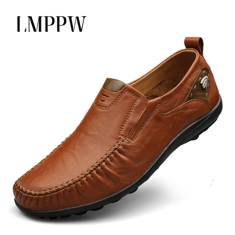 Big Size Men Shoes Genuine Leather Loafers Slip on Driving Shoes High Quality Men Leather Shoes Soft Moccasins Men Flats Loafers british slip on men loafers genuine leather men shoes luxury brand soft boat driving shoes comfortable men flats moccasins 2a