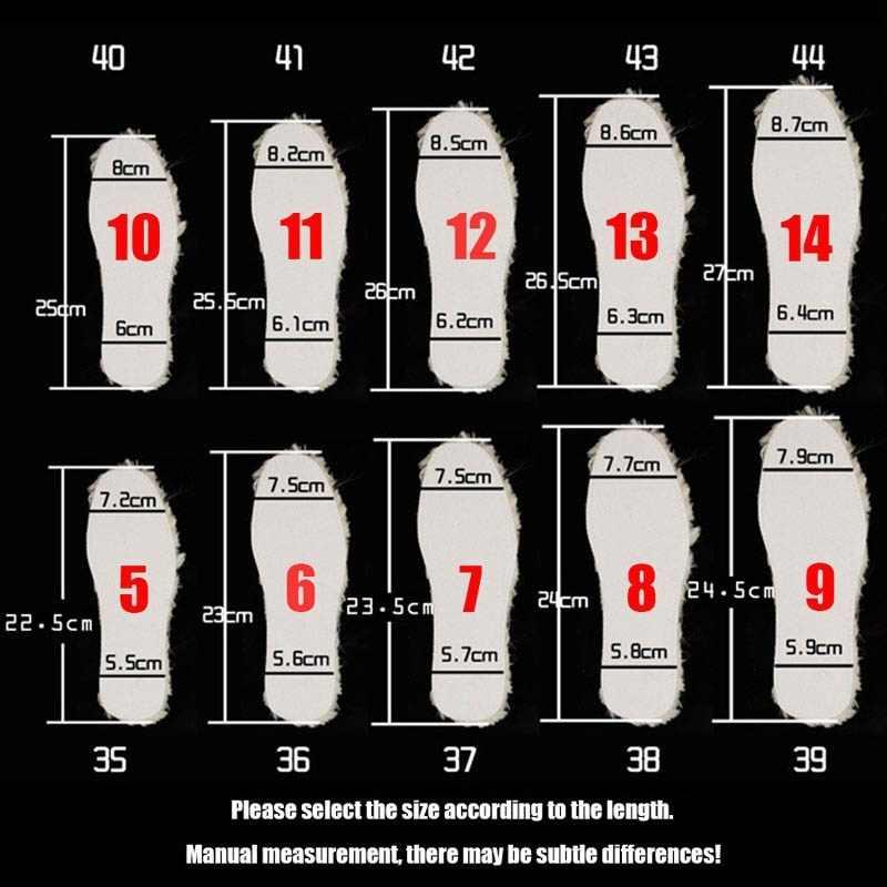 NANCY TINO Unisex Tabanlık Kar Botları için Kalın Ayakkabı Gerçek Kürk 100% Kaşmir Koyun Yün Termal Tabanlık Sıcak Yumuşak çizmeler