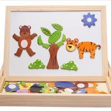Новые детские наборы головоломок для мальчиков и девочек, фантазийные деревянные игрушки с доской и белой доской, детские игрушки с доской AKP016