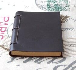 Origin Design handmade thick Diaries Journals notebook genuine leather brown A5 D0522