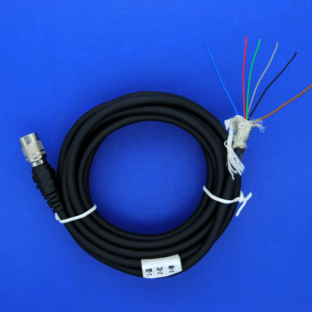 Hirose 6 pin (HR 10A 7P 6S) female with 5M cable for basler camera, high flex hirose 6pin basler GIGE AVT SFCC 6S normal cable
