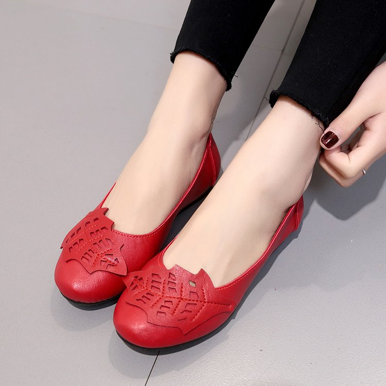 18 Soft Women Shoes Flats Moccasins Slip on Loafers Genuine Leather Ballet Shoes Fashion Casual Ladies Shoes Footwear E003 10