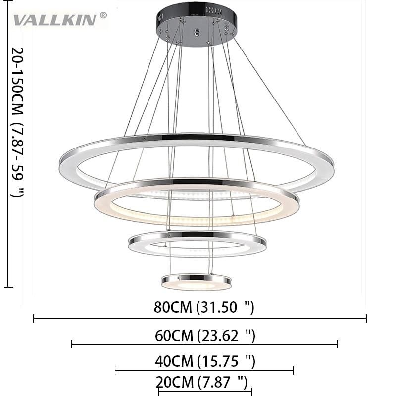 Nova LED svjetiljka s privjeskom Moderna kuhinja akrilna ovjes - Unutarnja rasvjeta - Foto 4