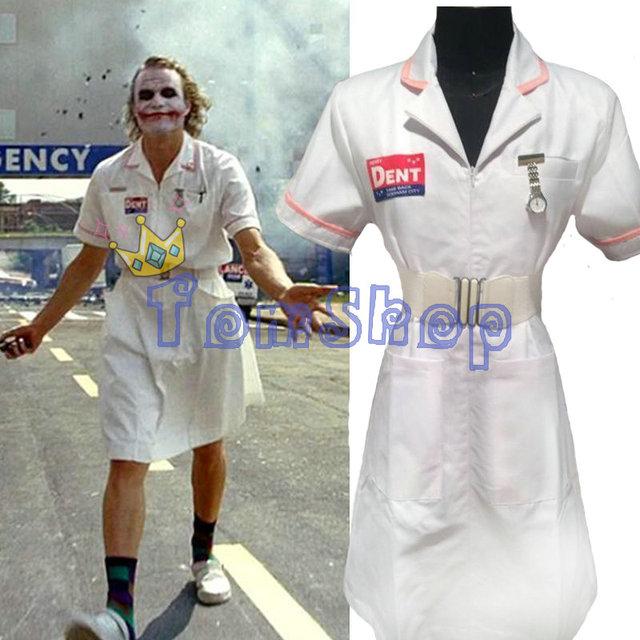バットマンダークナイトジョーカーナースドレス制服ハロウィン看護師の衣装衣装カスタムメイド