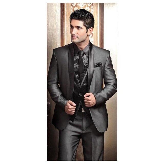 2018 Wedding Tuxedos for Men Modern Best man Suit Grey formal Suit ...