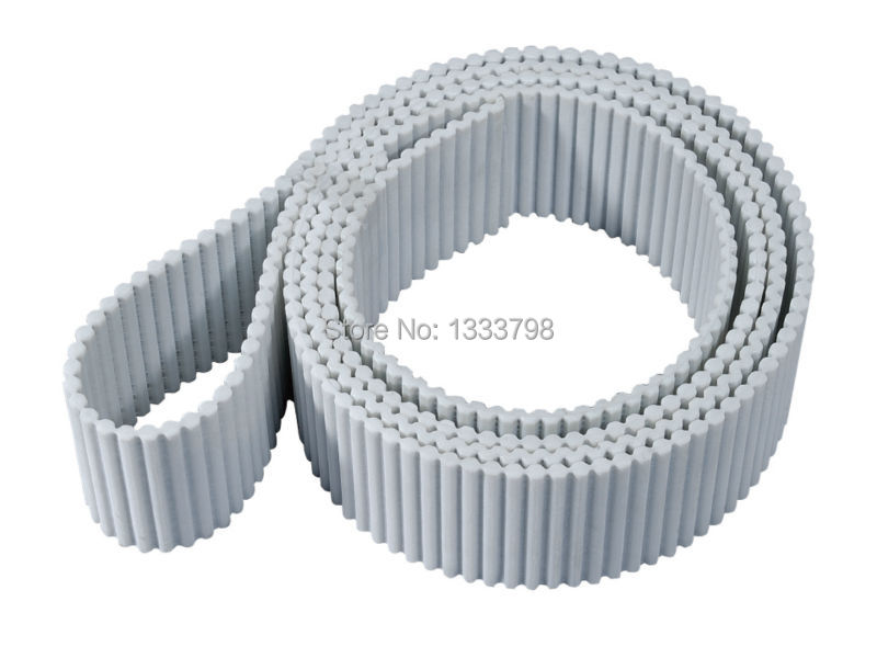 Factory manufacturing cheap price AT5 double teeth endless / seamless pub timing belt with steel cord inside porcelain manufacturing factory 359 174