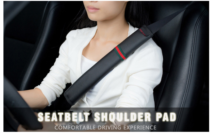 Universal Car seatbelt shoulder pad Soft quality leather Safety seat belt cover 23cm/35cm Harness protector Auto padding