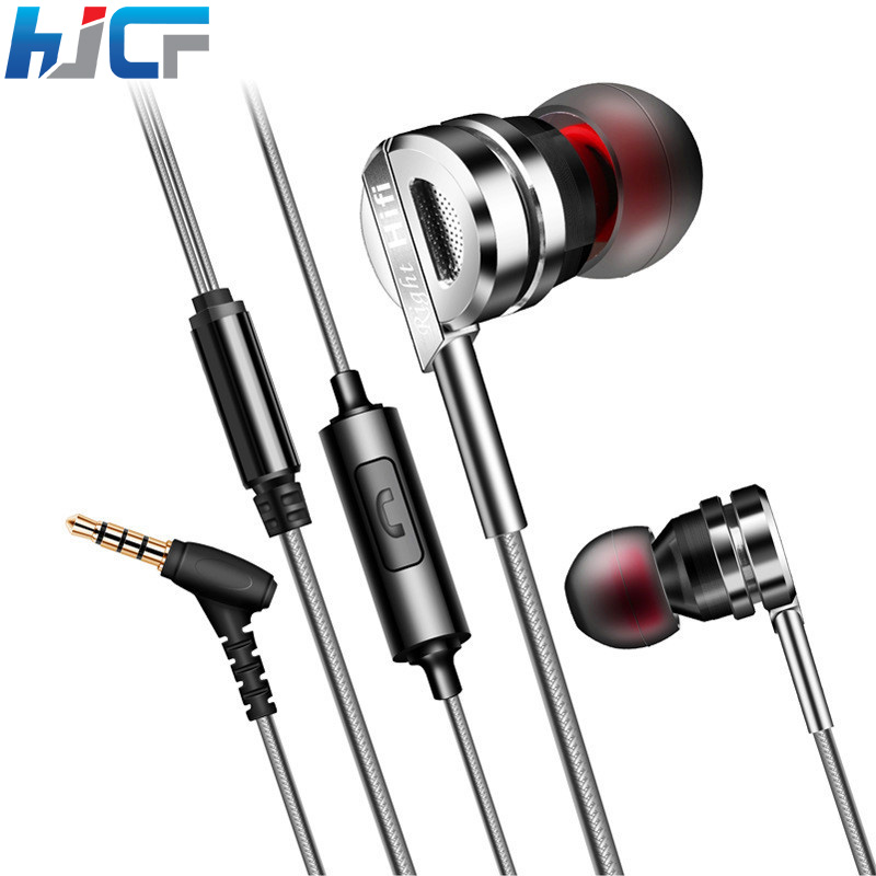 Original Earphones Metal Earbuds Quality Earphone Sport Handsfree Stereo Super Bass With Mic For iPhone Samsung D05 volume control 3 5mm glow earphones in ear stereo metal luminous earphone light headsets handsfree with mic for iphone samsung