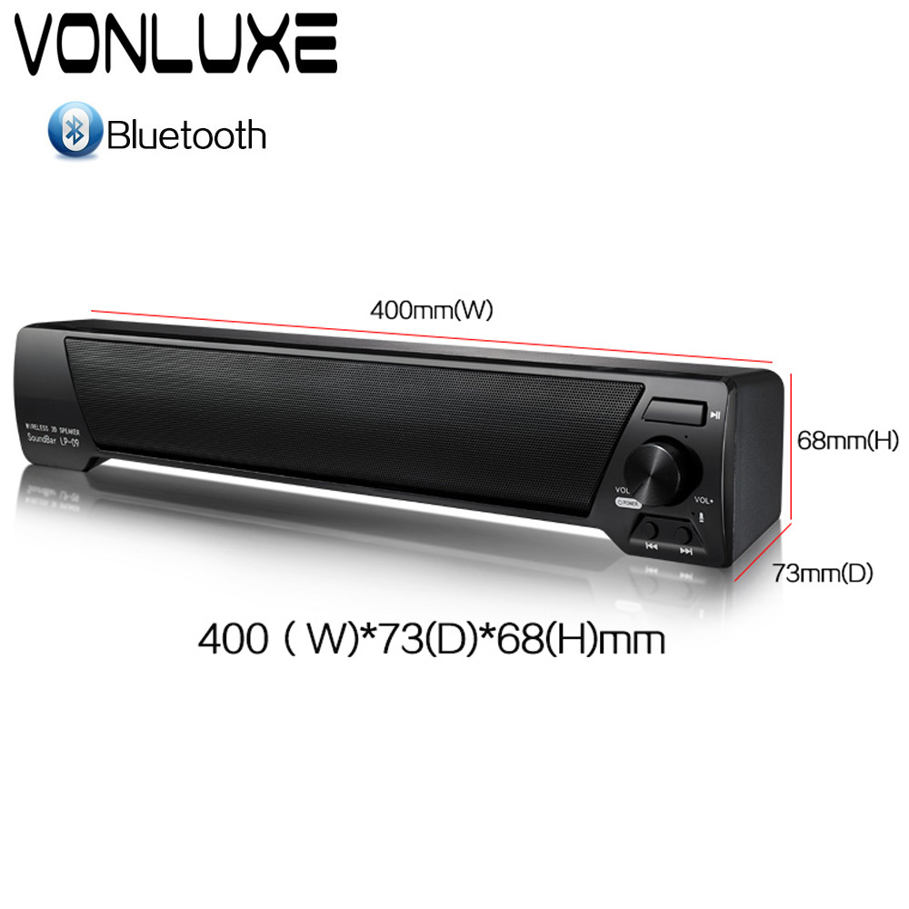 15e58abae68 Sound Bar Wireless Subwoofer Bluetooth Speaker 10W Small TV Soundbar  Receiver Stereo Super Bass Altavoz port